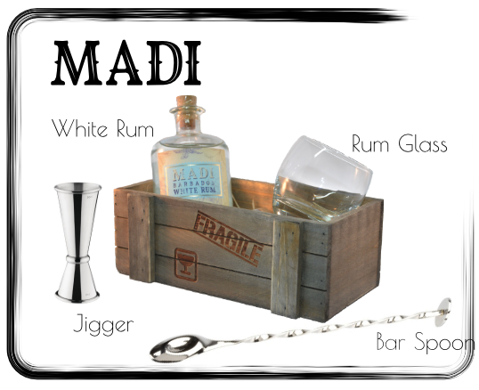 Giftbox MADI White Rum