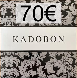 Cadeaubon 70€